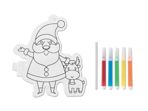 Ballon de Coloriage en Forme de Père Noël avec Marqueurs - visuel 2