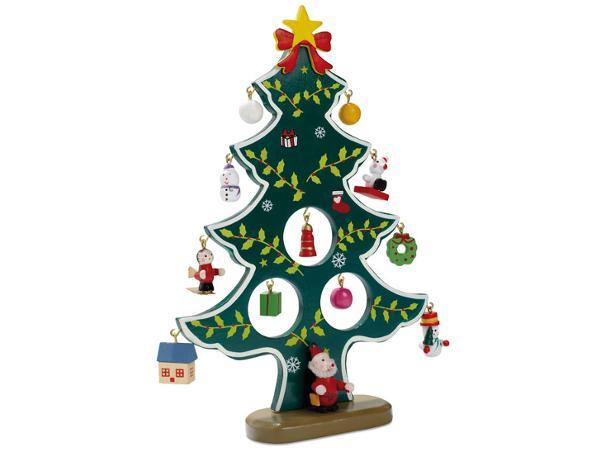 Sapin de Noël en Bois avec Décorations - visuel 3