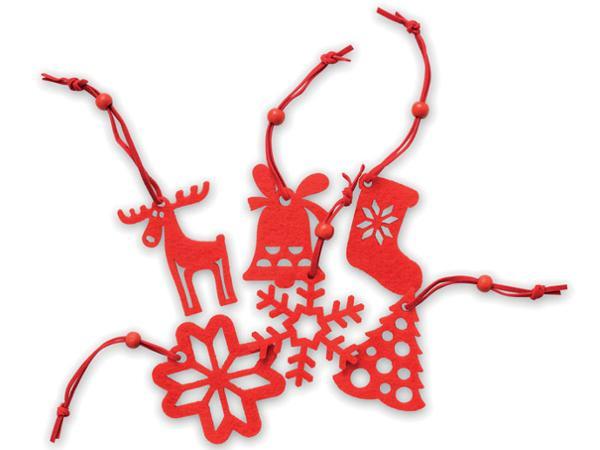 Lot de 6 Décorations de Noël en Feutrine - visuel 2