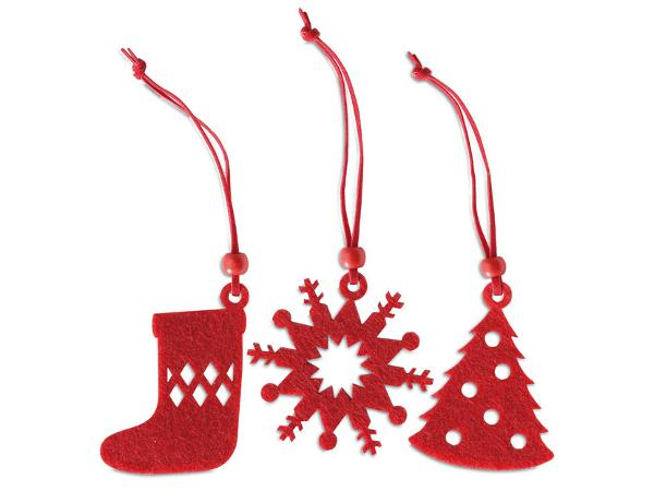 Lot de 12 Décorations de Noël en Feutrine - visuel 2