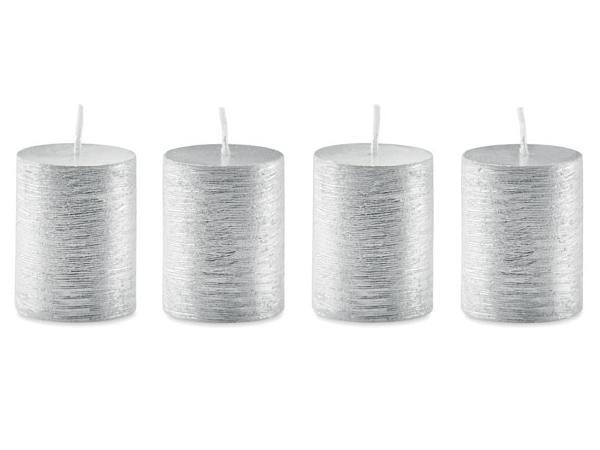 Ensemble de 4 bougies Argentées dans une Boîte - visuel 3