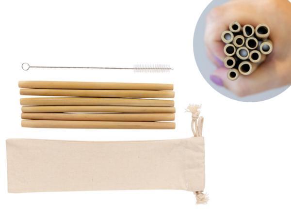 Set de Pailles en Fibre de Bambou X 6 - visuel 2