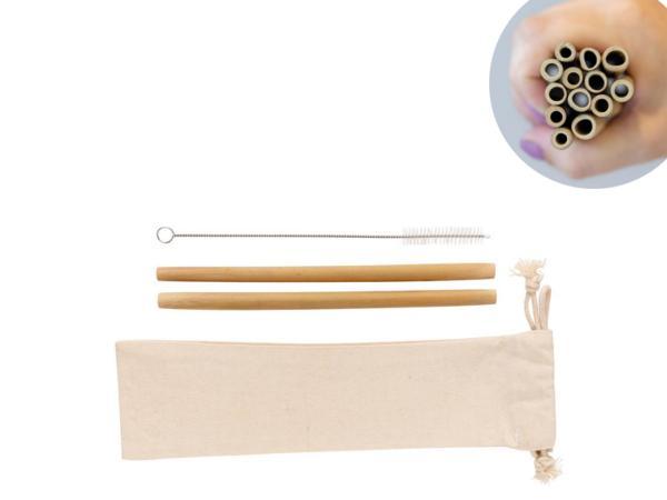 Set de Pailles en Fibre de Bambou X 2 - visuel 2