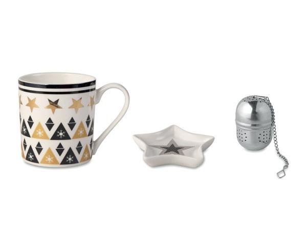 Ensemble à Thé : Mug en Céramique, Filtre à Thé et Soucoupe - visuel 2