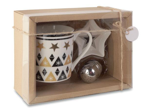 Ensemble à Thé : Mug en Céramique, Filtre à Thé et Soucoupe - visuel 3