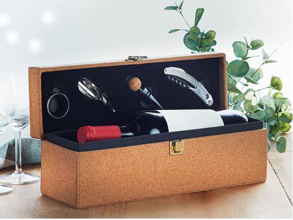 Coffret de Vin dans une Boîte en Liège