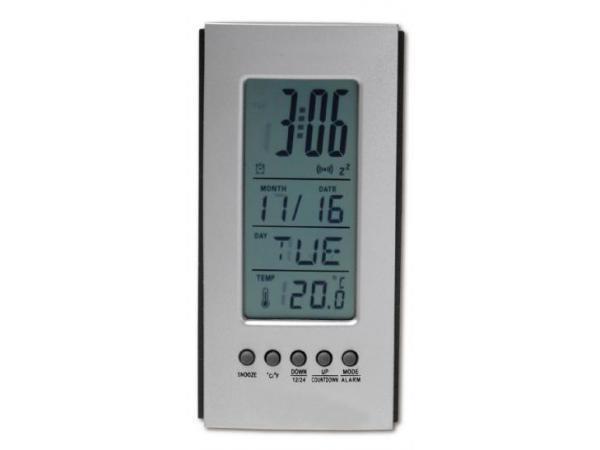 Pendulette de Bureau Thermomètre, Calendrier, Alarme - visuel 2