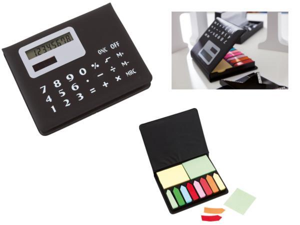 Boîte Mémo avec Calculatrice et Papiers Repositionnables