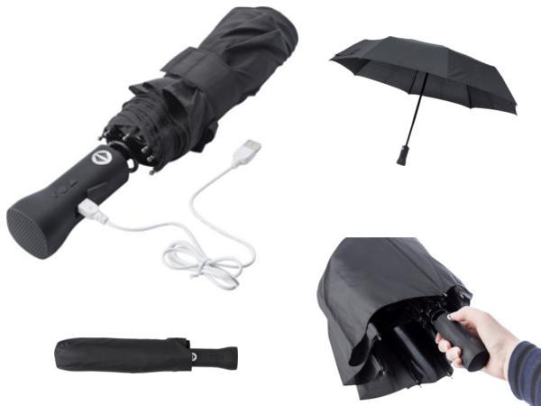 Parapluie Pliable Automatique Muni d'une Enceinte