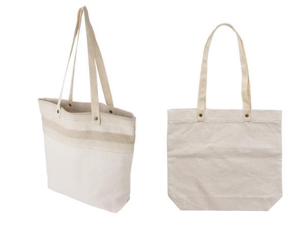 sac Shopping en Coton à Anses Longues