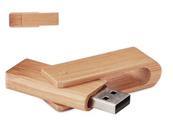 Clé USB avec Coque de Protection en Bambou de 16 Go