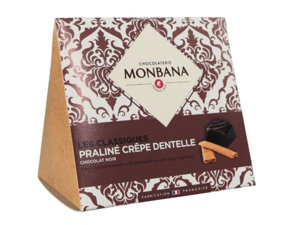 Les Classiques Chocolat Noir Praliné Crêpe Dentelle 106g