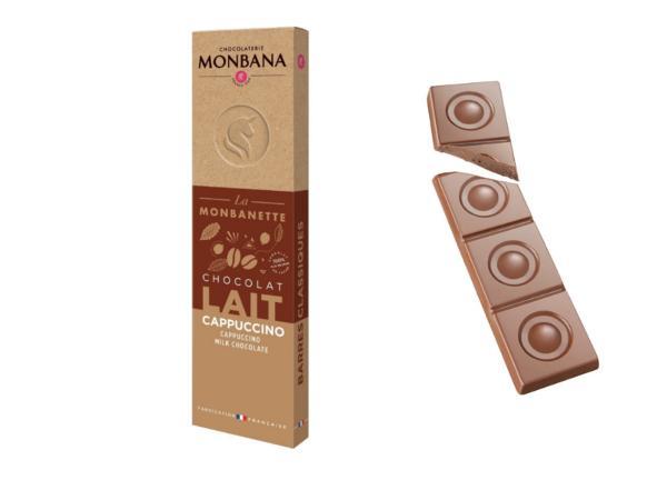 Barre Chocolat au Lait Cappuccino MONBANA 40 g