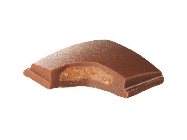 Barre Chocolat au Lait Praliné et Caramel  MONBANA 40 g - visuel 2