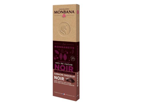 Barre Chocolat Noir Ganache MONBANA 40 g