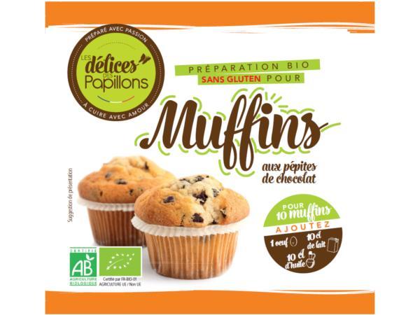 Kits de Muffins Bio sans Glutten  Pépites Chocolat 400g