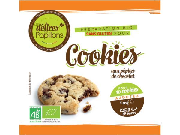 Kits de Cookies Bio sans Glutten aux Pépites de Chocolat 510g