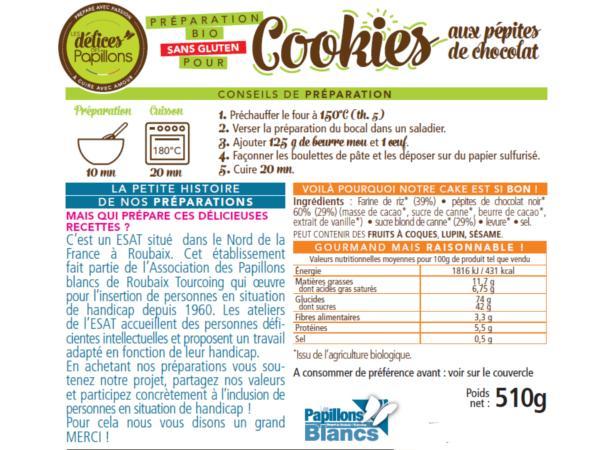 Kits de Cookies Bio sans Glutten aux Pépites de Chocolat 510g - visuel 2