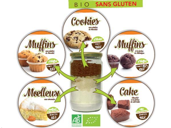 Kits de Cookies Bio sans Glutten aux Pépites de Chocolat 510g - visuel 3