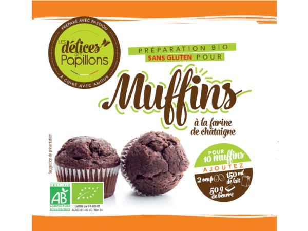 Kits de Muffins Bio sans Glutten  Farine de Châtaigne 400g