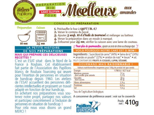 Kits de Moelleux Bio sans Glutten aux Amandes 410g - visuel 2