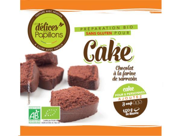 Kits de Cake Bio sans Glutten  Chocolat Farine de Sarrazin 470g
