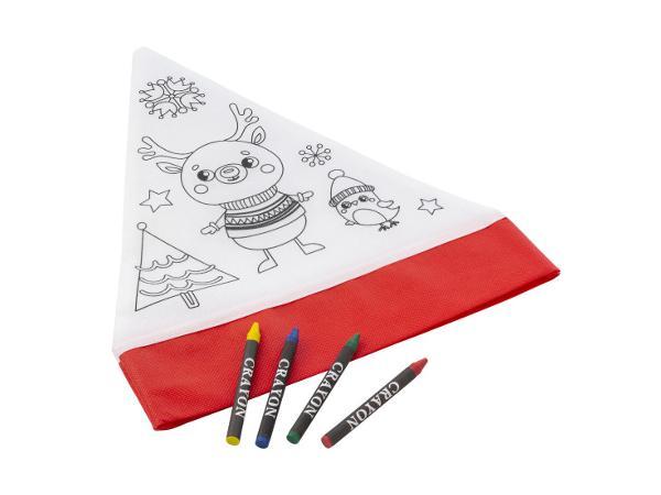 Bonnet de Noël à Colorier avec 4 Crayons Gras