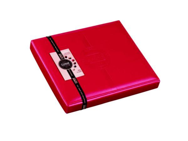 Boîte en Cuir Rouge avec 36 Pralines - 500 g - visuel 2
