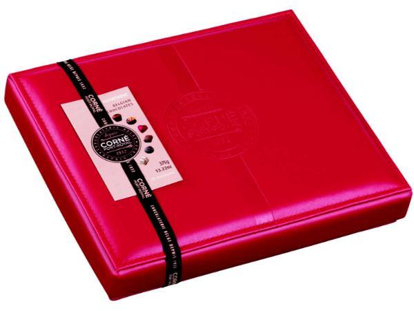 Boîte en Cuir Rouge avec 28 Pralines - 375 g - visuel 2