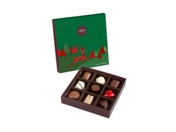 Petit Écrin de Noël - Assortiment de 9 pralines - 120 g