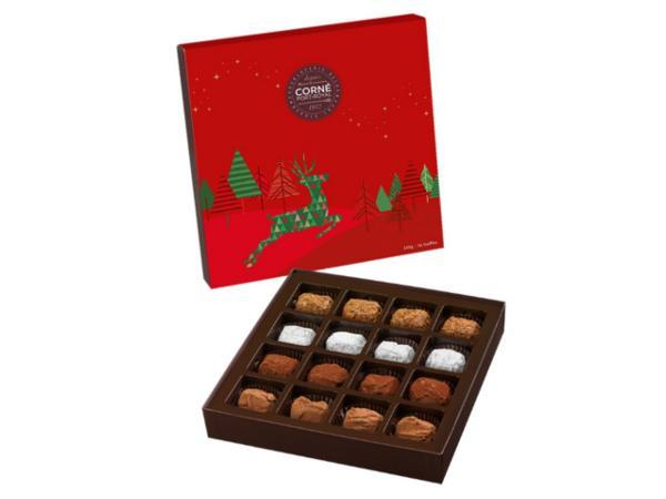 Boîte Carrée Noël de 16 truffes - 240 g