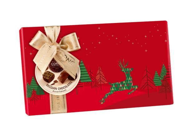 Boîte Noël Rectangulaire Garnie de 16 Chocolats  - 213 g