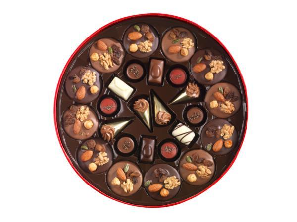 Grande Boîte Ronde Noël Garnie de 26 chocolats - 375 g - visuel 2