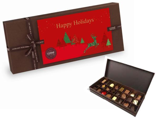 Boite Rectangulaire Personnalisable Garnie 24 Chocolats Assortis