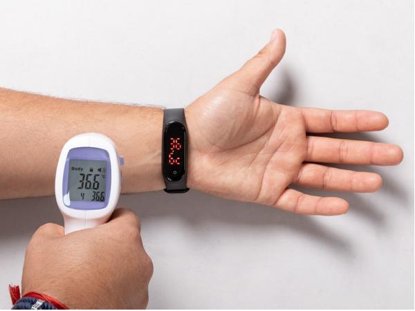 Montre Bracelet avec Fonction Thermomètre