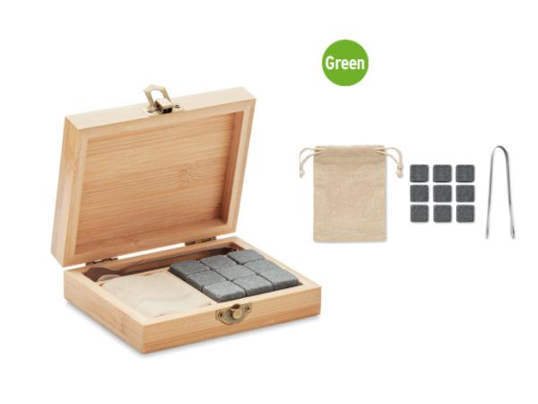 Set de 9 Pierres Réutilisables dans une Boîte en Bambou - visuel 2