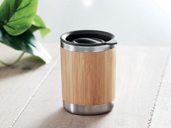 Gobelet à Double Paroi 250 ml en Bambou et Acier Inoxydable