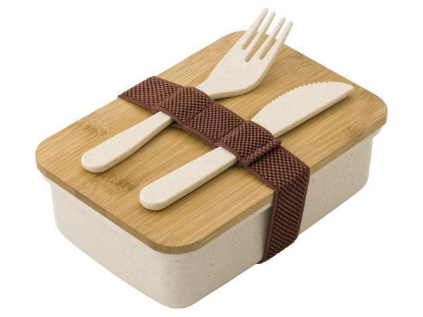 Lunch Box en Paille de Blé avec Couverts