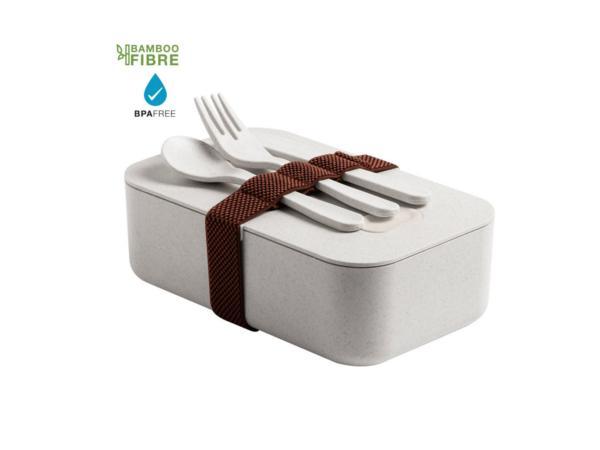 Lunch Box en Fibre de Bambou de 1 L avec Couverts