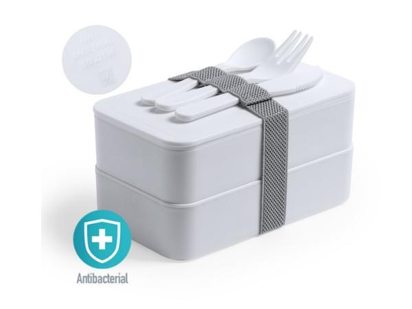 Lunch Box Antibactérienne avec 2 Compartiments de 700 ml Chacun
