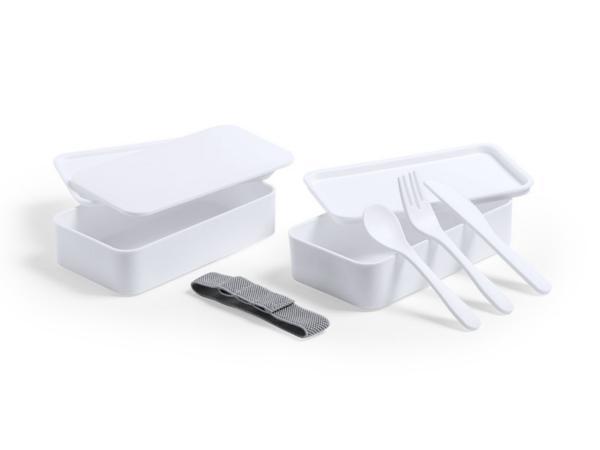 Lunch Box Antibactérienne avec 2 Compartiments de 700 ml Chacun - visuel 3
