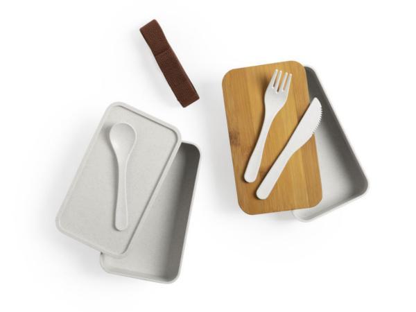 Lunch Box avec 2 Compartiments de 700 ml Chacun en Bambou - visuel 3