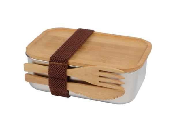 Lunch Box en Acier et Bambou de 600 ml