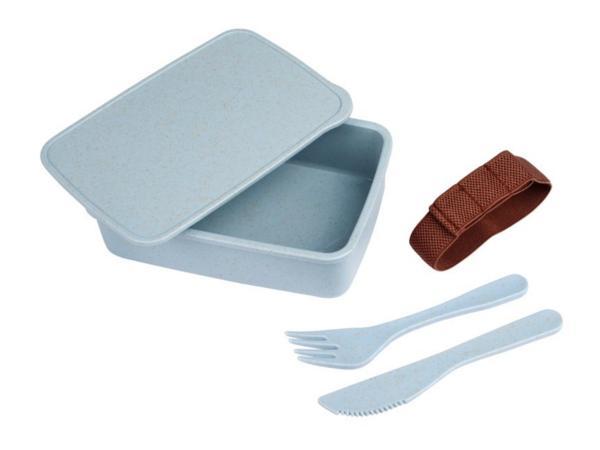 Lunch Box en Matières Renouvelables de 600 ml avec Couverts