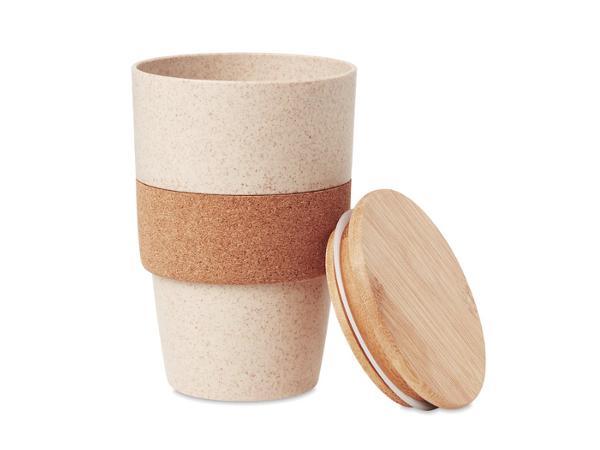 Gobelet en Paille de Blé, Bambou et Liège de 450 ml
