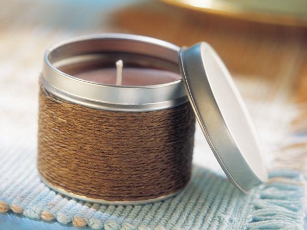Bougies Parfumées dans une Boîte en Métal