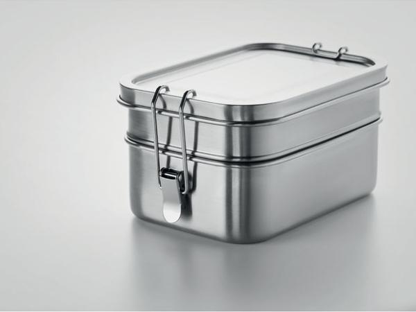 Lunch Box de 1200 ml  avec 2 Compartiments en Acier