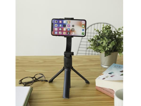 Perche à Selfie LIVOO avec Stabilisateur, Extensible et Bluetoot