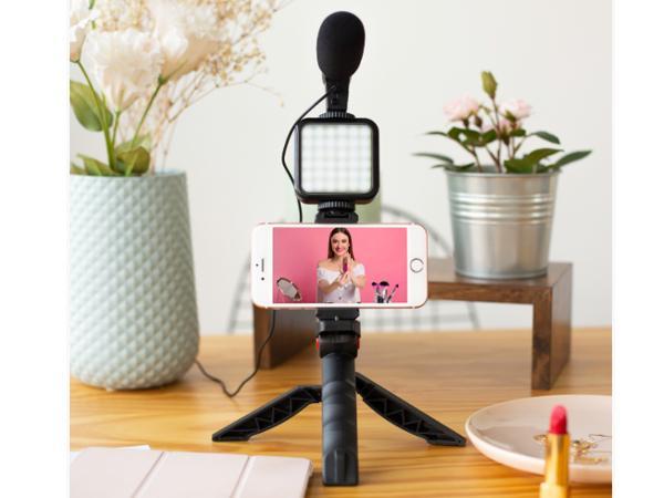 Kit Vidéo LIVOO avec Trépied, Flash et Micro