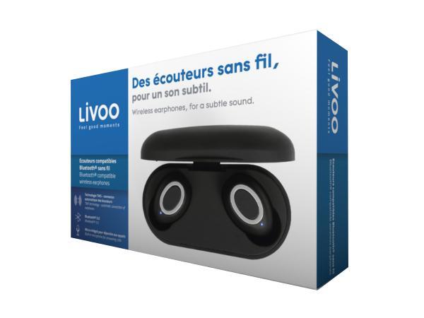 Ecouteurs LIVOO Compatibles Bluetooth Sans Fil